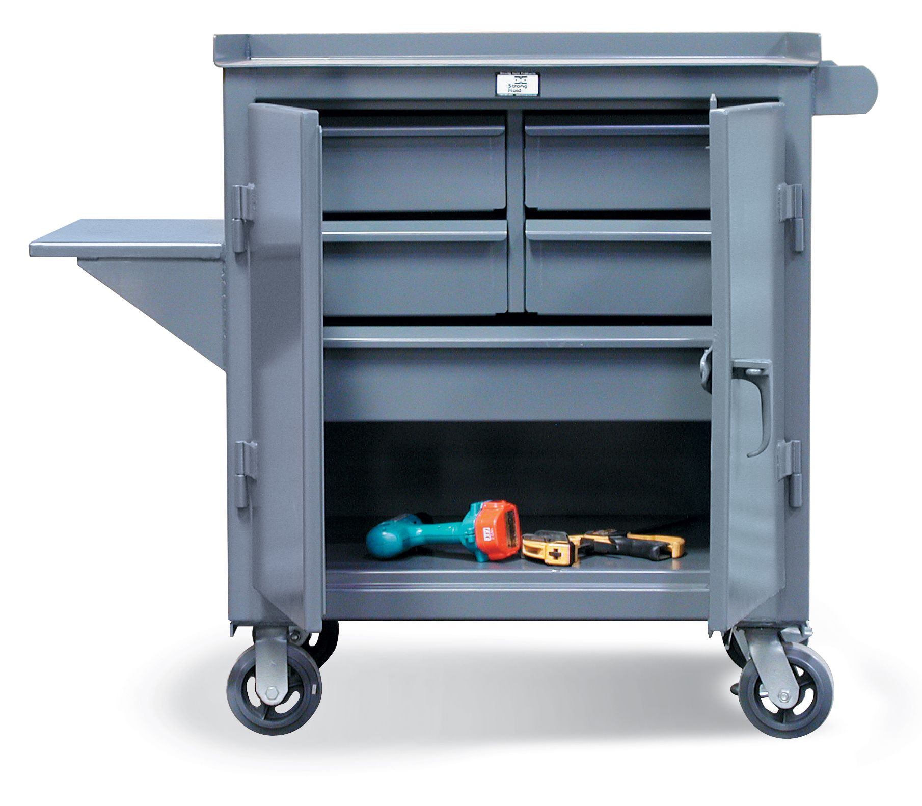free rolling maintenance cart tool cart with 4 half. Black Bedroom Furniture Sets. Home Design Ideas