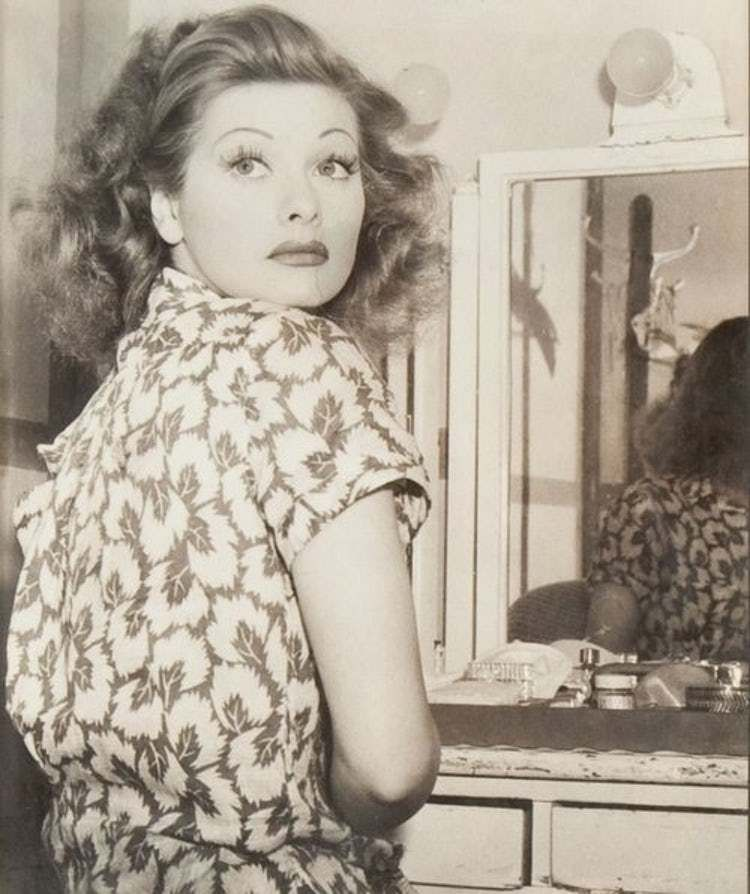 Young Lucille Ball in Patterne... is listed (or ranked) 4 on the list 24 Pictures of Young Lucille Ball #lucilleball