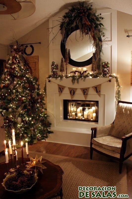 decoración de chimenea en navidad proyectos para navidad