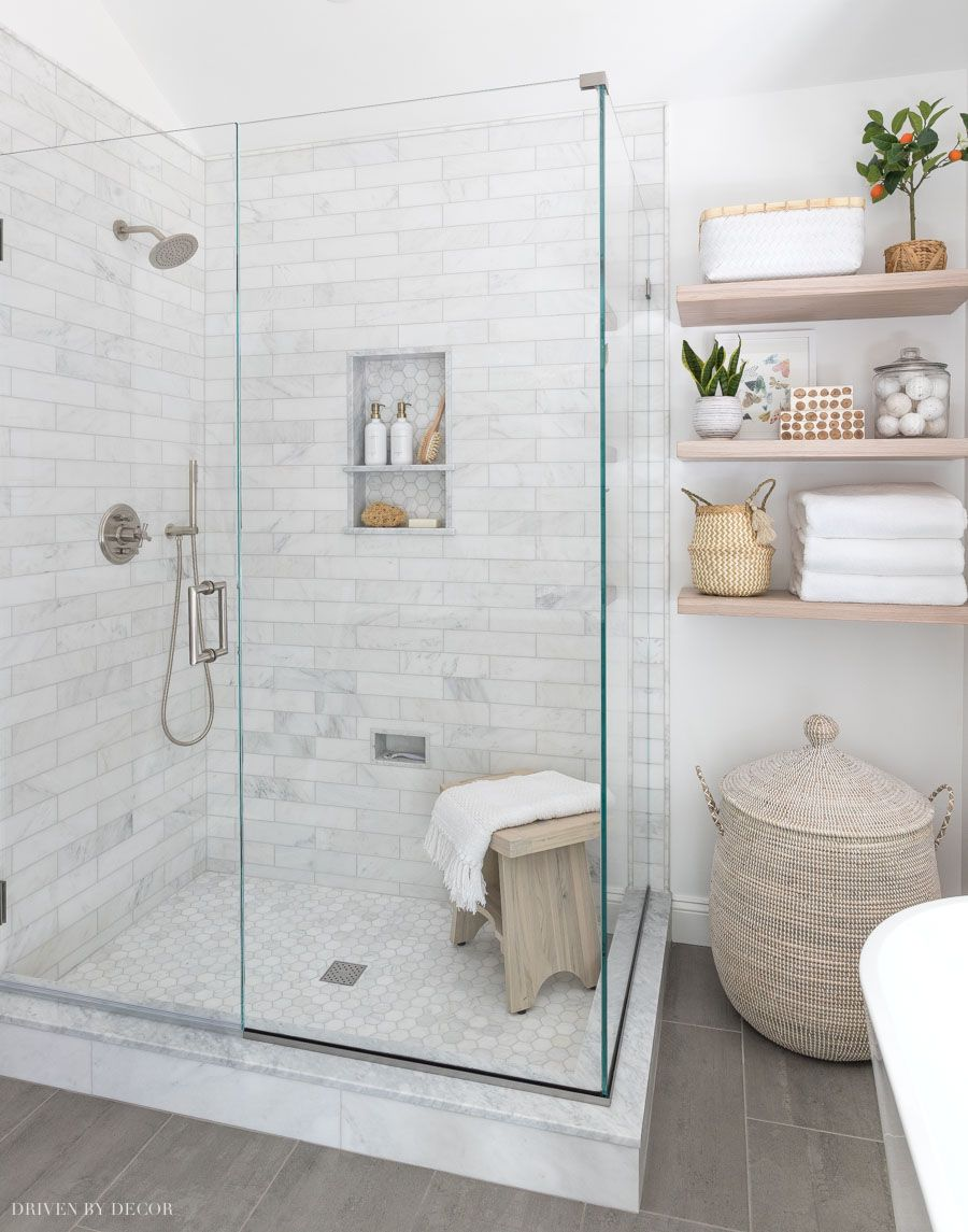 Our Glass Shower Enclosure: Cost & Options – All the Details! | Driven by Decor – Peinados facile