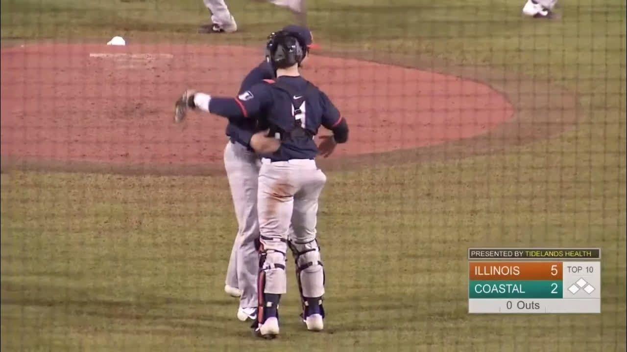 Ty Weber Did Not Allow An Earned Run In Five Innings Saturday And The Illinois Baseball Team S Bullpen Threw Four Baseball Highlights Coastal Carolina Baseball