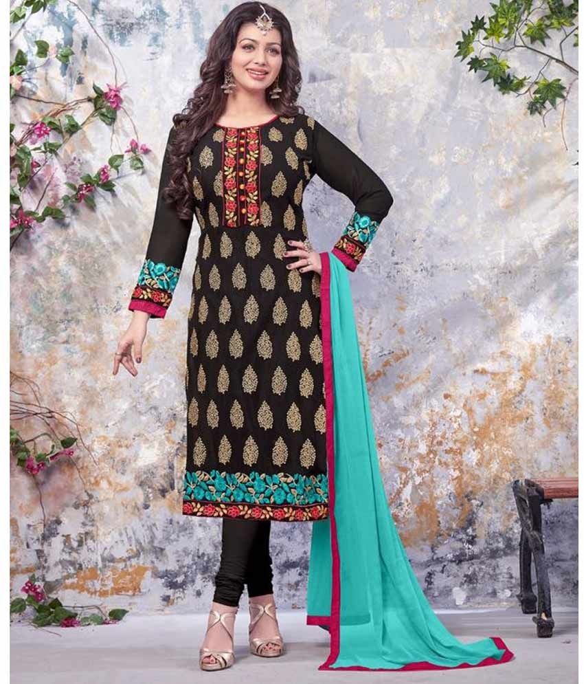 Naksh - Pleasing Georgette Straight Suit In Black