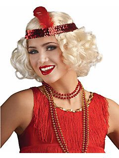 20s Ladies Roaring Flapper Blonde Wig For Hair Accessory Fancy Dress Betty