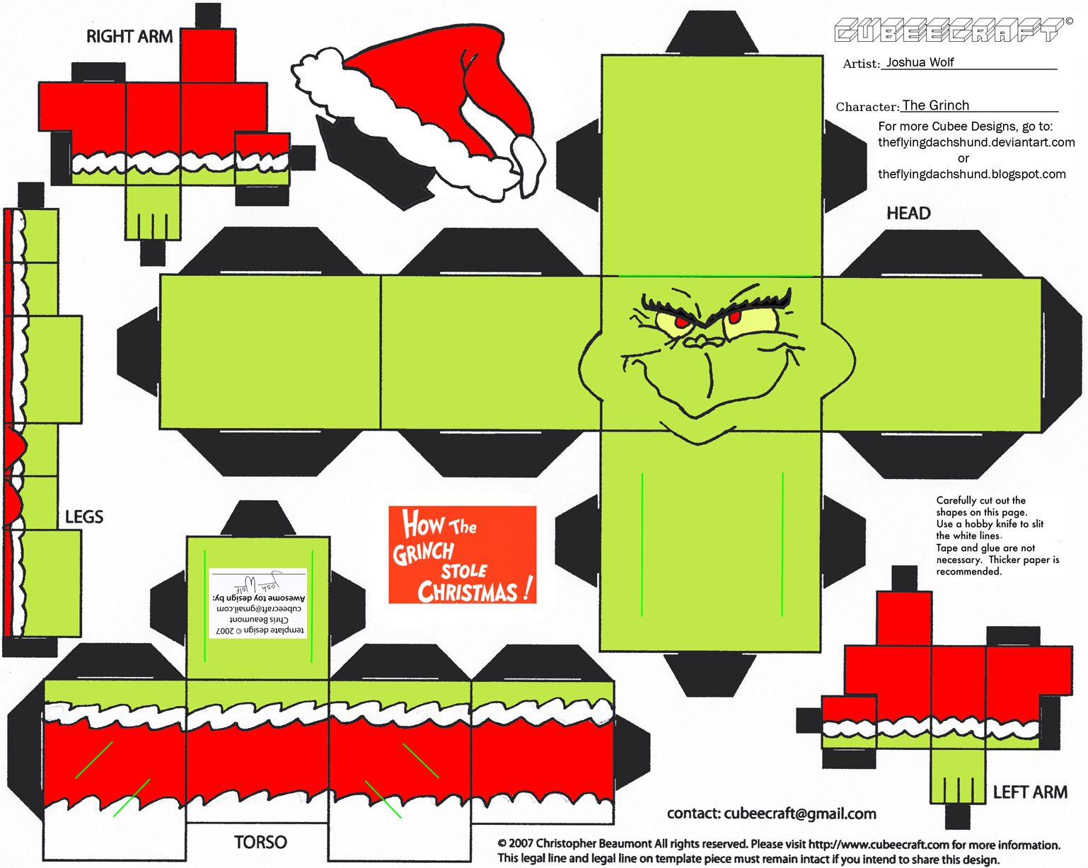 The Grinch Cubee By Theflyingdachshundviantart