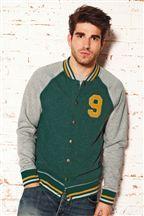 Green Jersey Baseball Jacket | Next | Men's Autumn Fashion ...
