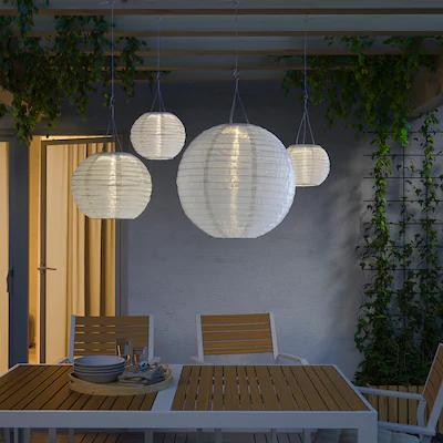 Ulkovalaisimet Led Valosarjat Koristevalot Ikea Ikea Outdoor Lighting Solar Powered Lamp Pendant Lamp Shade