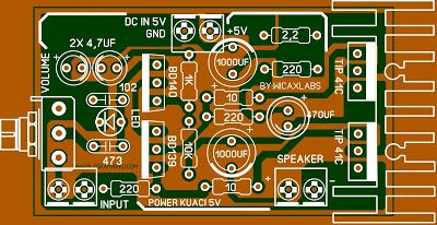 5v amplifier Audio Layout Komplit Karya Wicaxlab ...
