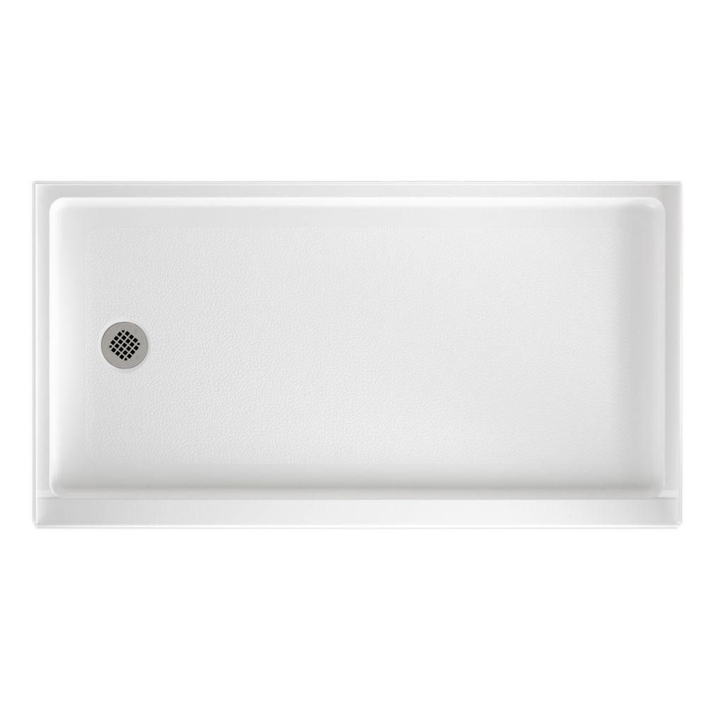Swan 32 In X 60 In Solid Surface Single Threshold Retrofit Left
