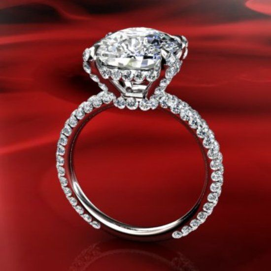 The Side Of This Cushion Cut Ring Love The Side View
