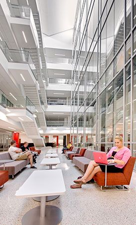 Atrium Study Space Glass Curtain Wall Fsu Johnston Building