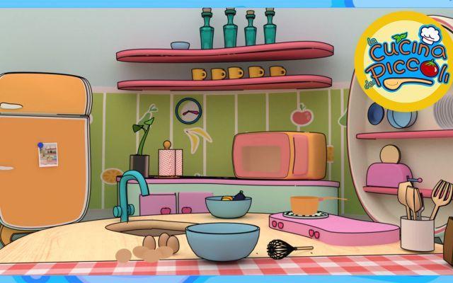 Cartoni animati e giochi per bambini piccola pizza cuoca