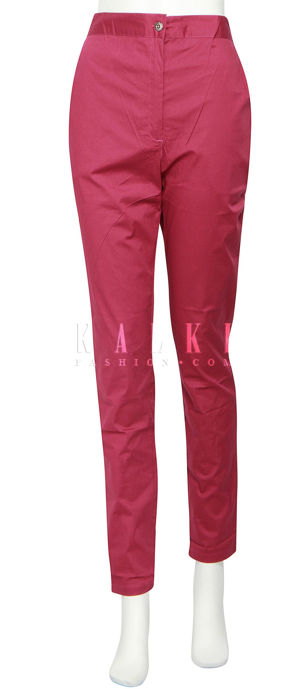 Buy Online from the link below. We ship worldwide (Free Shipping over US$100) http://www.kalkifashion.com/featuring-cigarette-pants-in-magenta-only-on-kalki.html