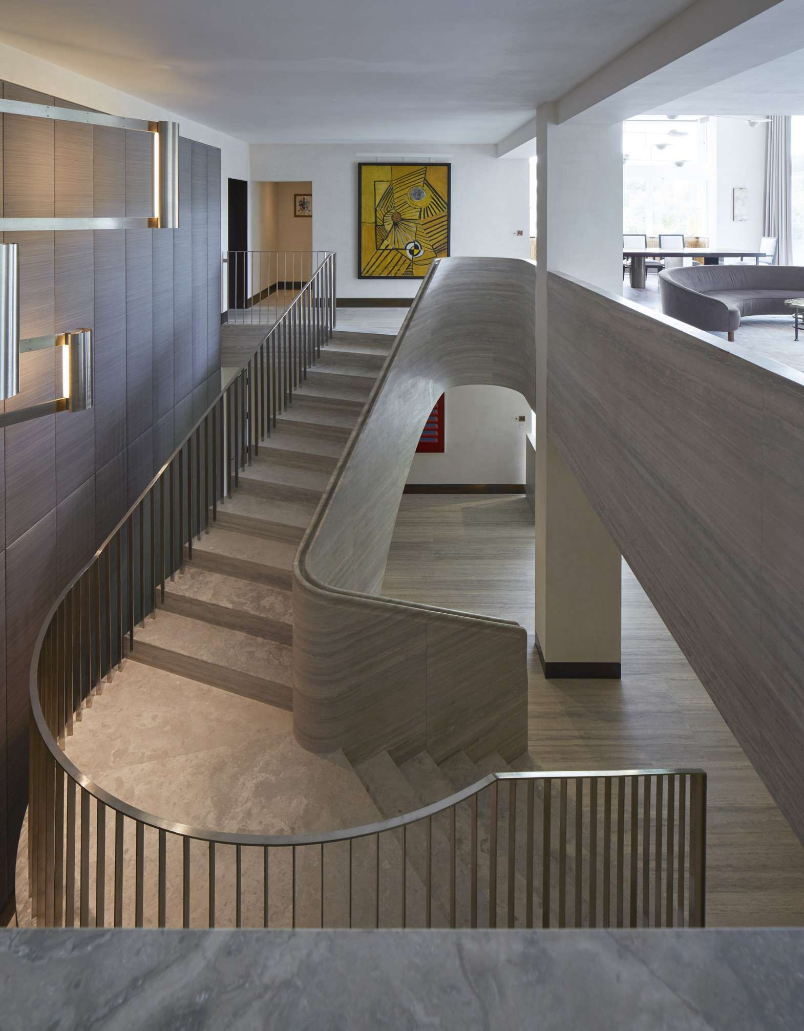 Best Jamie Fobert Architects Travertine Stair Central London 400 x 300