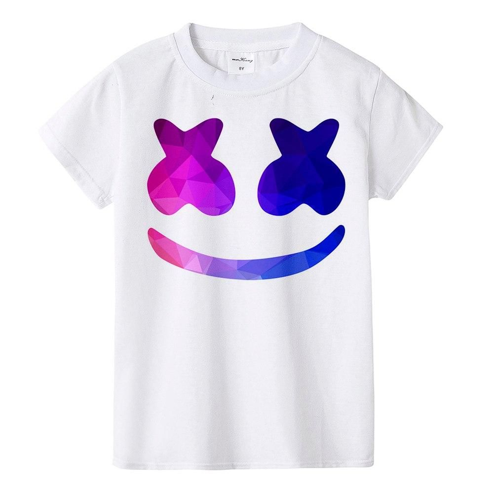 7f35089d0 2018 New Marshmello Kids T Shirt Dj Music Children T Shirt Marshmello Face  Man Boys Girls Tops Tees Fashion Summer Tshirt Free Shipping