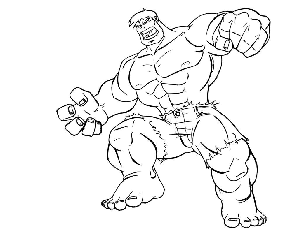 hulk Coloring Pages For Kids | Cricut | Pinterest