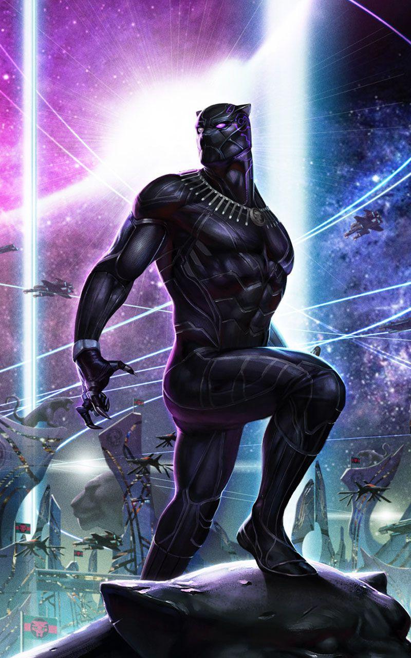 Blackpanther Neon Wallpaper Black Panther Image T Challawallpaper Wakanda Wallpaper Black Panther Wa