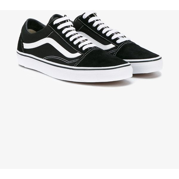 2d2c9f610a5bdf Vans Black Old Skool Trainers (€52) ❤ liked on Polyvore featuring men s  fashion