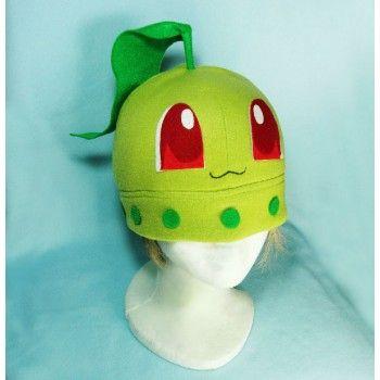 Chikorita ,hat,pokemon,anime,manga,fabric,gorros,tela,   Festa ...
