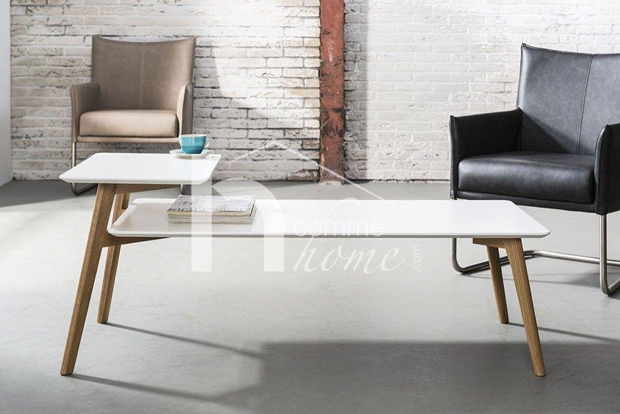 Table basse moderne blanc laqué mat tendance | table | Pinterest