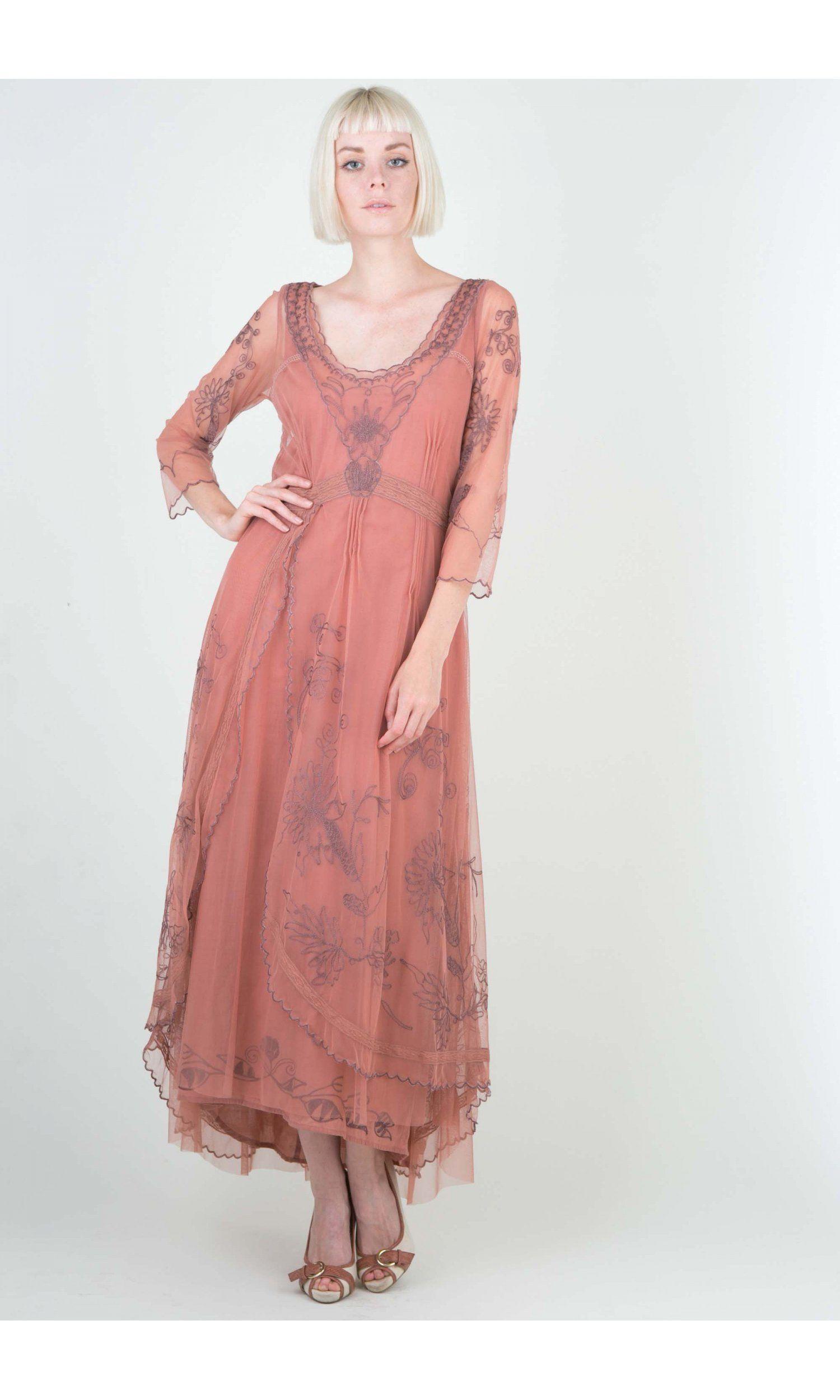 Downton Abbey Tea Party Gown in Ruby by Nataya | MODA MODA ...