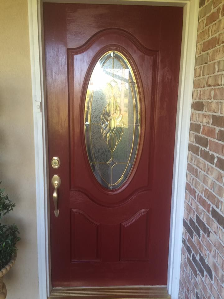 Sherwin Williams Sun Dried Tomato Front Door Redo