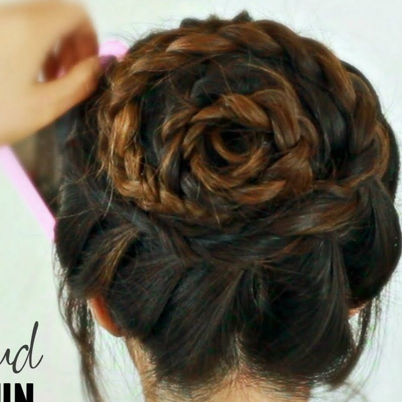 Rose Bud Braid Bun Tutorial by Tina L. Watch the video tutorial to DIY. (With images) | Diy ...