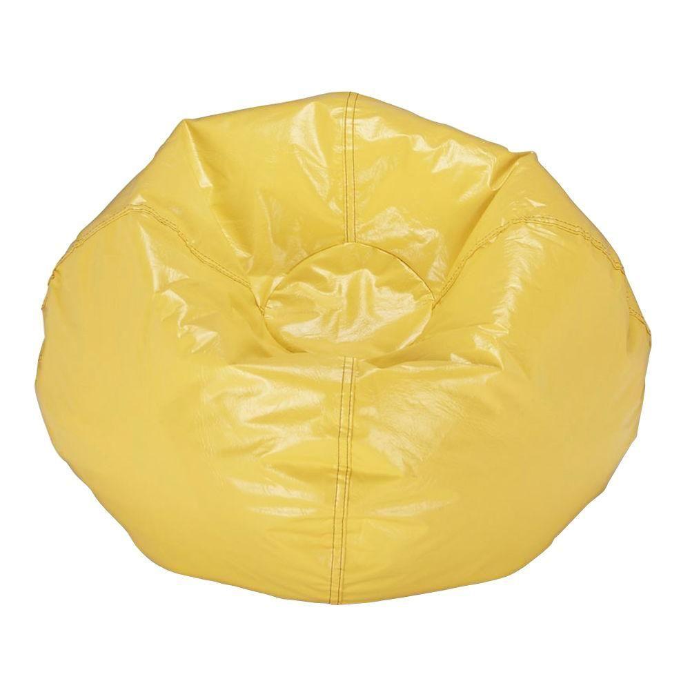 Fantastic Yellow Vinyl Bean Bag Products Bean Bag Chair Bean Bag Creativecarmelina Interior Chair Design Creativecarmelinacom