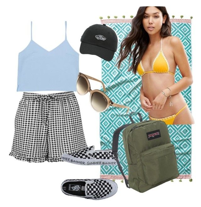 """SUMMER 2017"" by matildcurley on Polyvore featuring John Robshaw, Boohoo, ASOS, Vans, Tom Ford and JanSport"