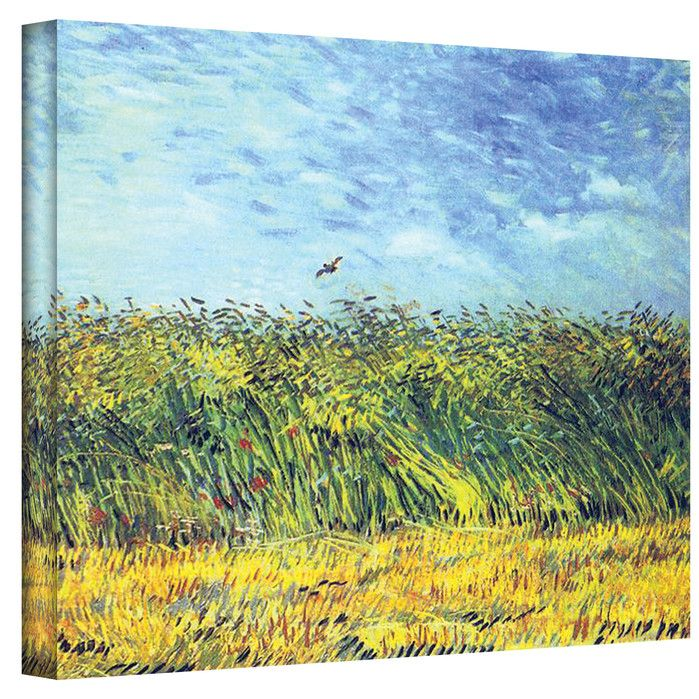 'Green Wheat Fields' by Vincent Van Gogh Painting Print on Canvas