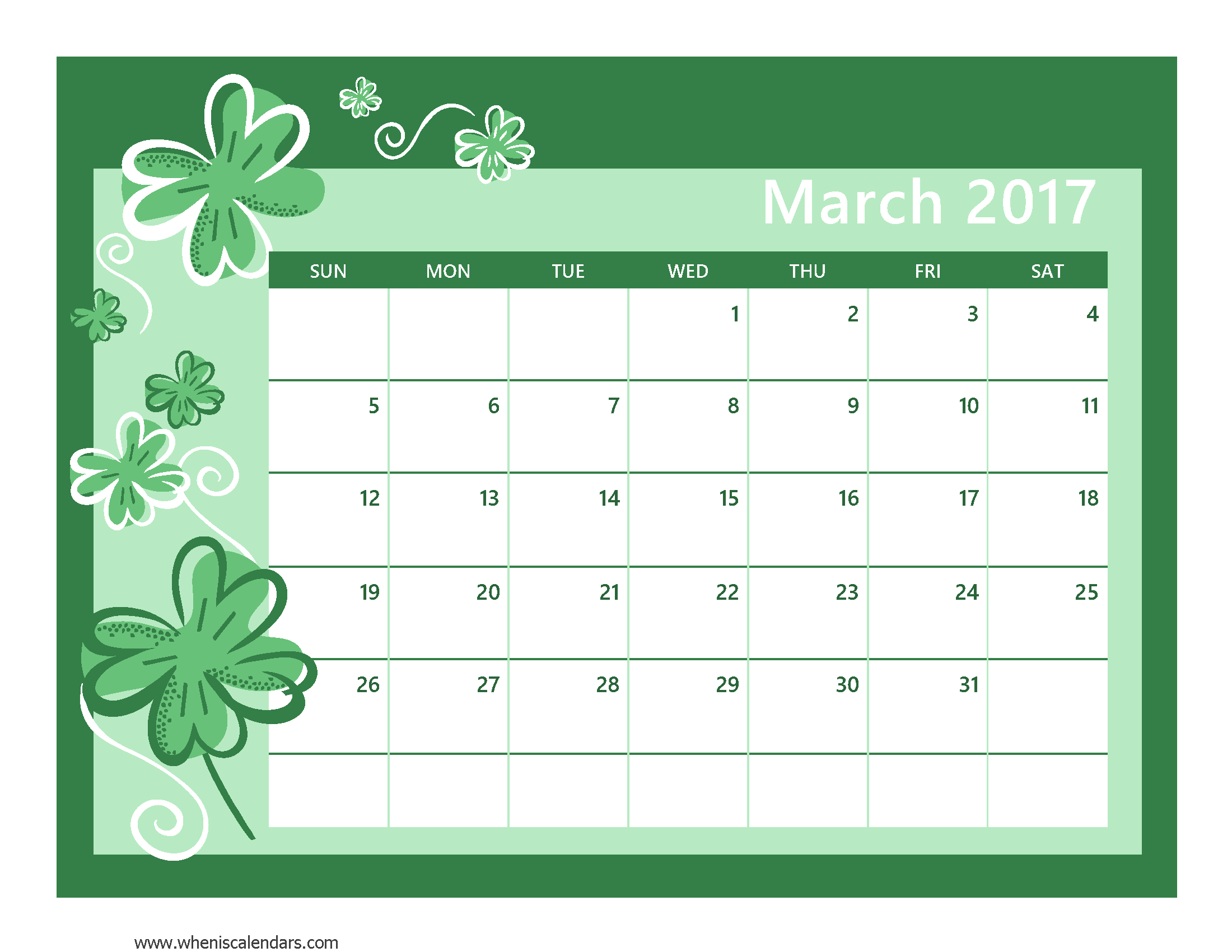 Printable February When Is Calendars