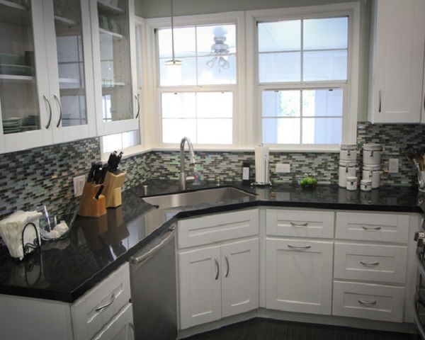 Amazing Corner Kitchen Sink Design Ideas. Kitchen Frosted Glass .