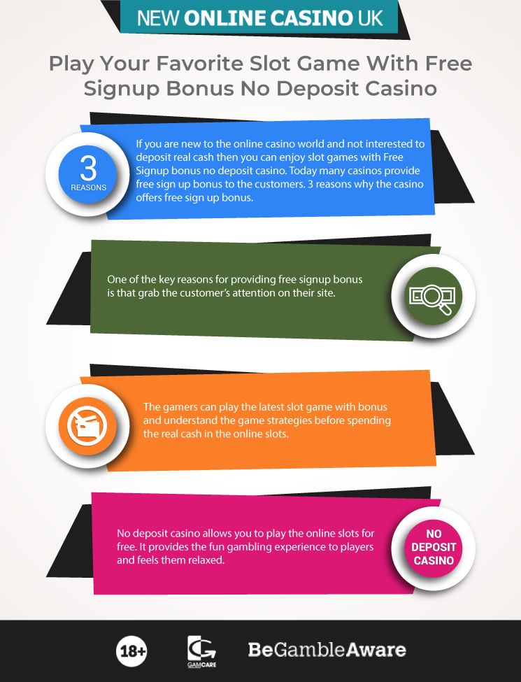 No Deposit Bonus Free Signup Bonus New No Deposit Casino Uk