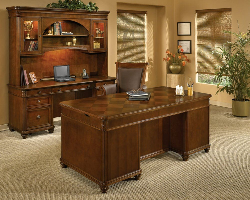 Warm Cherry Executive Desk Home Office Collection: Inspired By Island Living, The Antigua Collection Brings