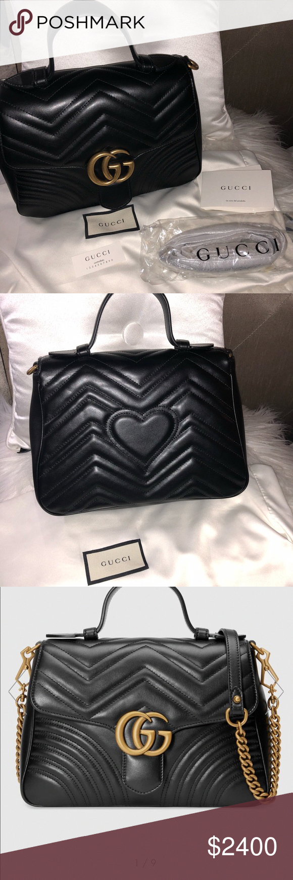f2bf308a8dfd Spotted while shopping on Poshmark: GG Marmont small top handle bag! # poshmark #fashion #shopping #style #Gucci #Handbags #Guccihandbags