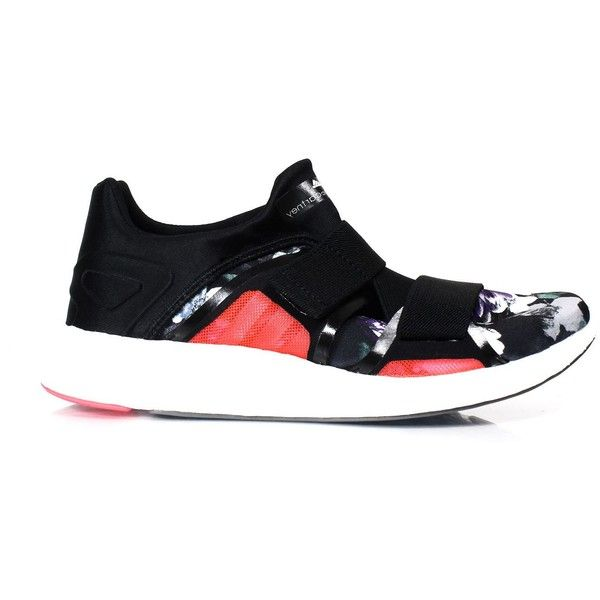 Adidas by Stella McCartney Sneakers ($145) ❤ liked on Polyvore featuring shoes, sneakers, black multi, velcro shoes, adidas shoes, black shoes, adidas and adidas trainers