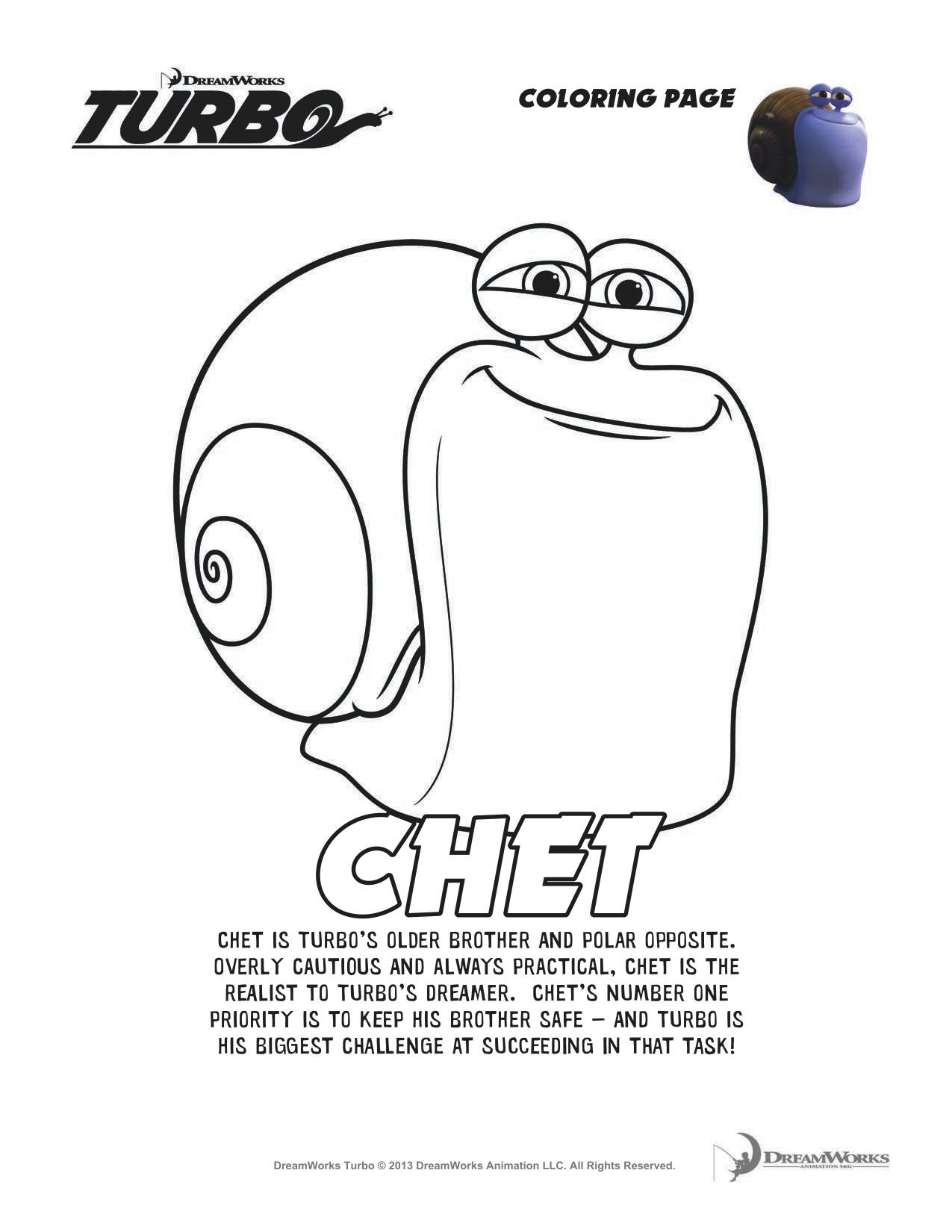 Turbo Chet Coloring Page Coloring Pages Niece Nephew Boy