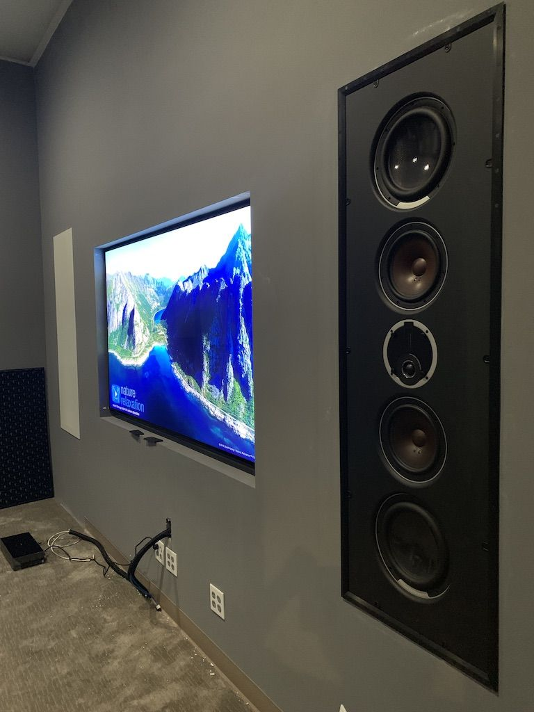 Dali In Wall Speakers With 8k Samsung 82 Inch In Wall Speakers