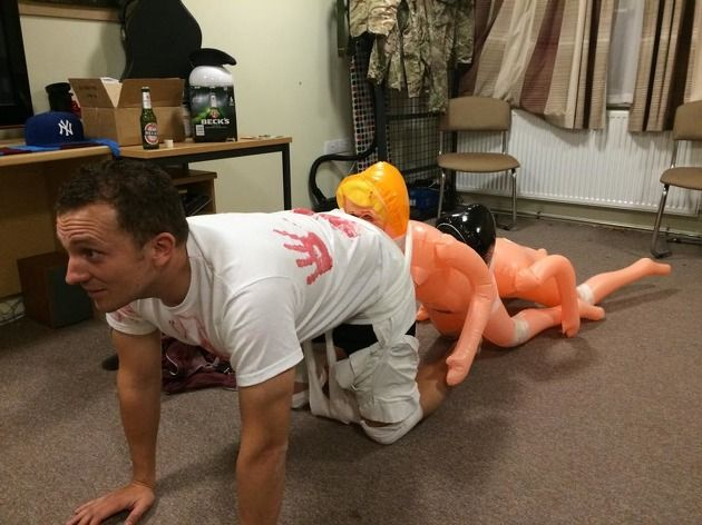 the human centipede halloween fancy dress haha just for giggles