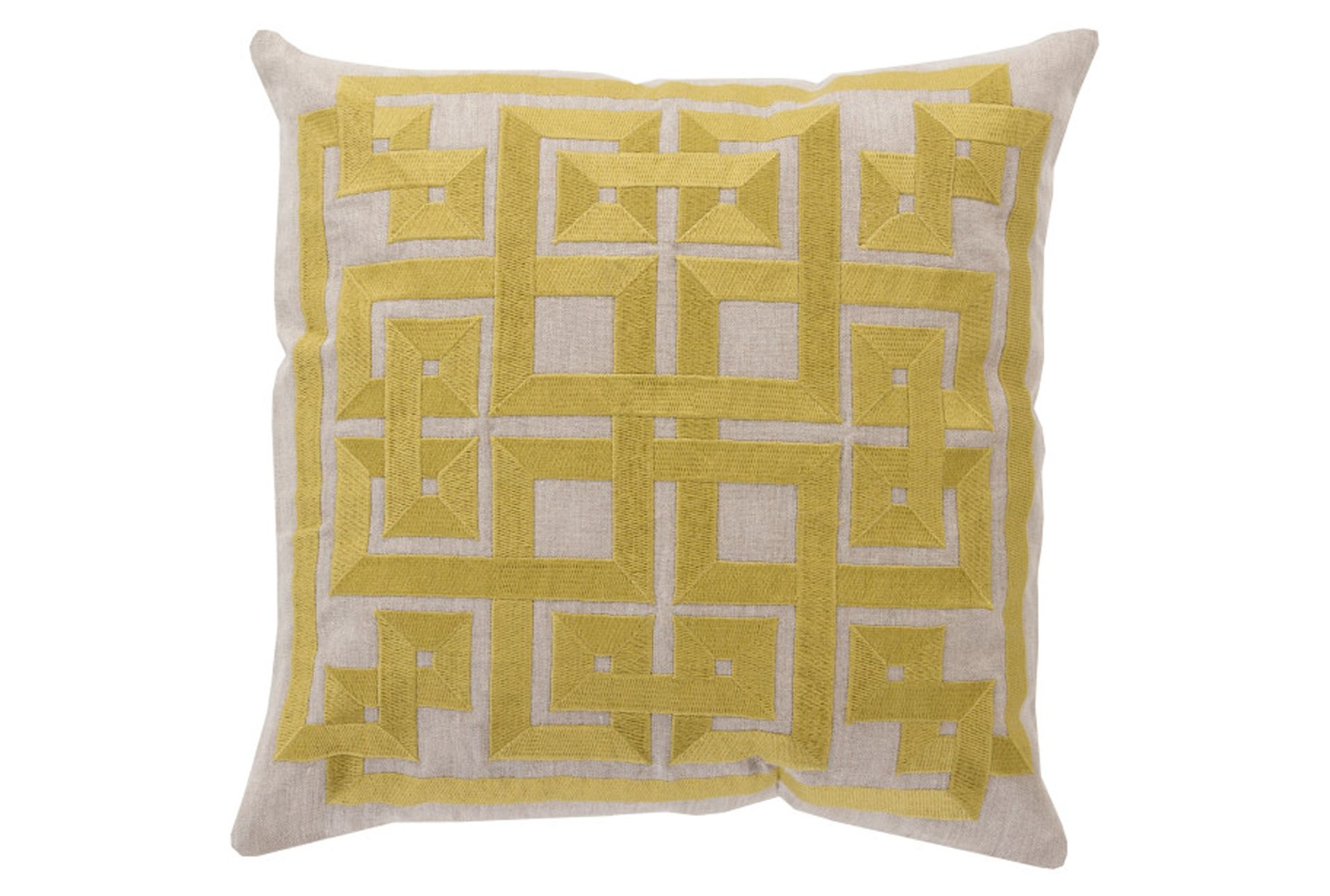 Accent Pillow Trina Beige Lime 20x20 Green Products Pinterest