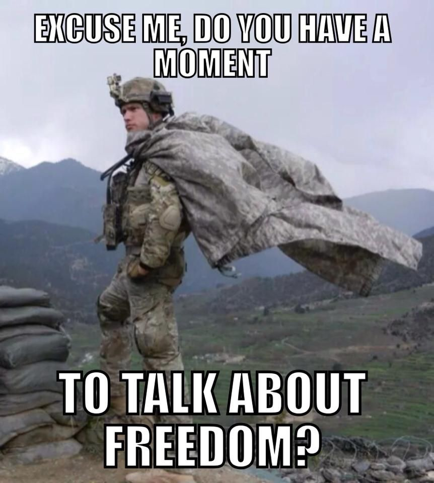 1242617b2cb1872fb872bd982c1145b9 military meme talk about freedom army meme memes pinterest