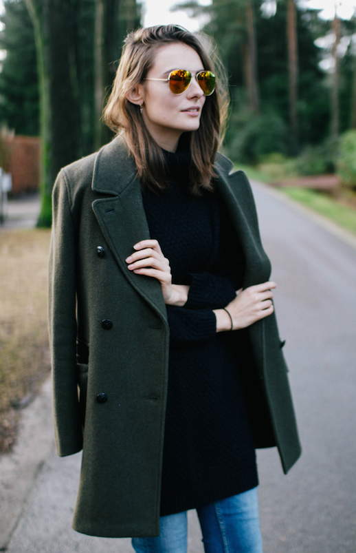 15 Incredibly Stylish Ways To Wear Green Coats And Jackets (Le ...