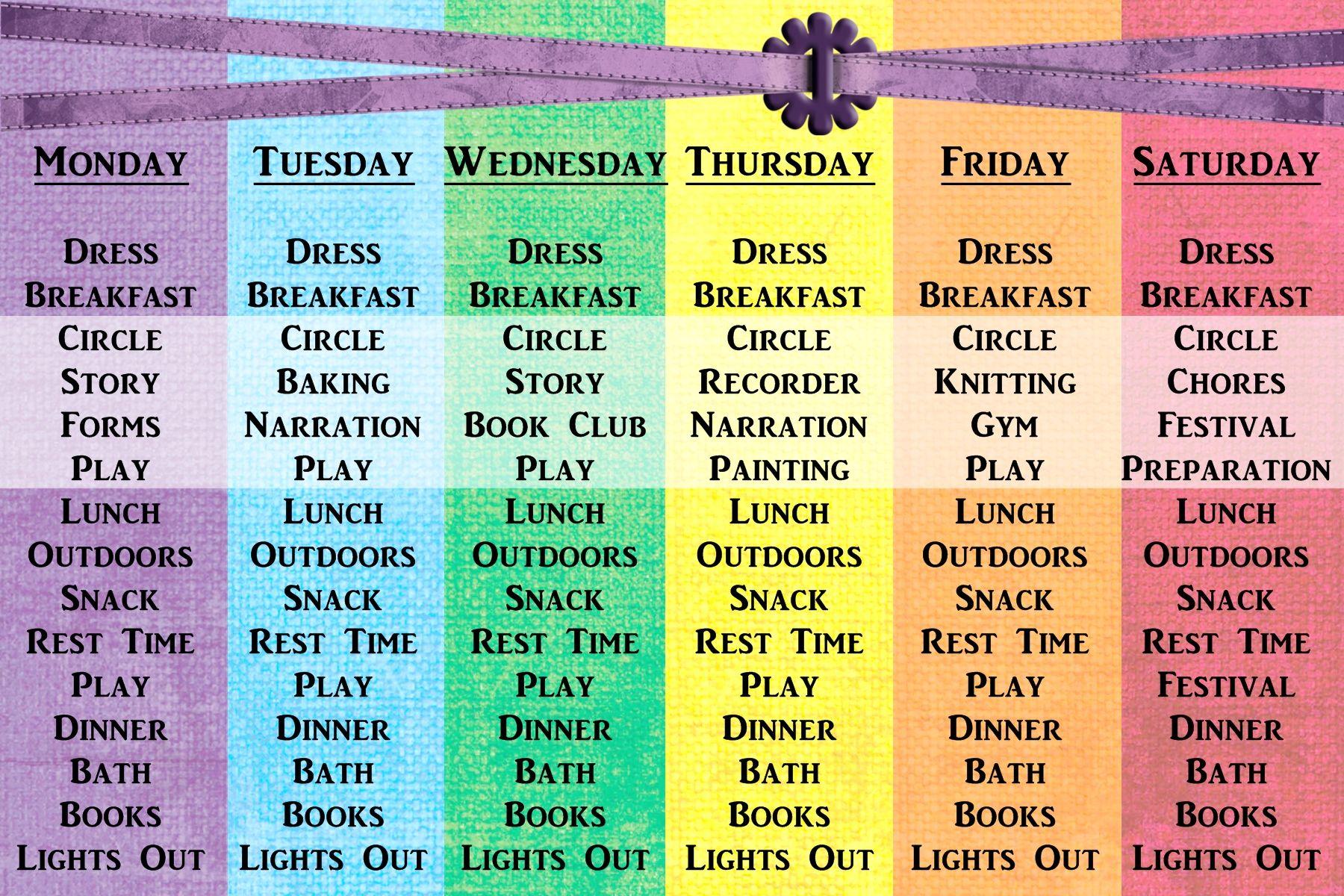 New First Grade Schedule Intentional Homeschooling
