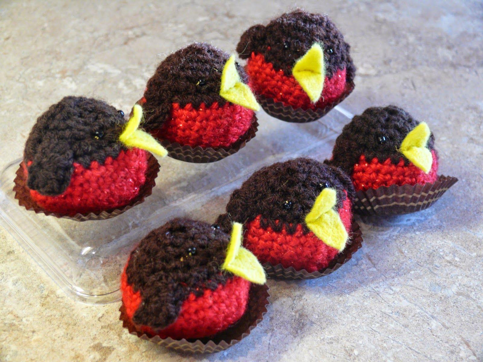 Robin choir - crochet Ferrero Rocher cosies | Knitted christmas decorations, Christmas knitting ...