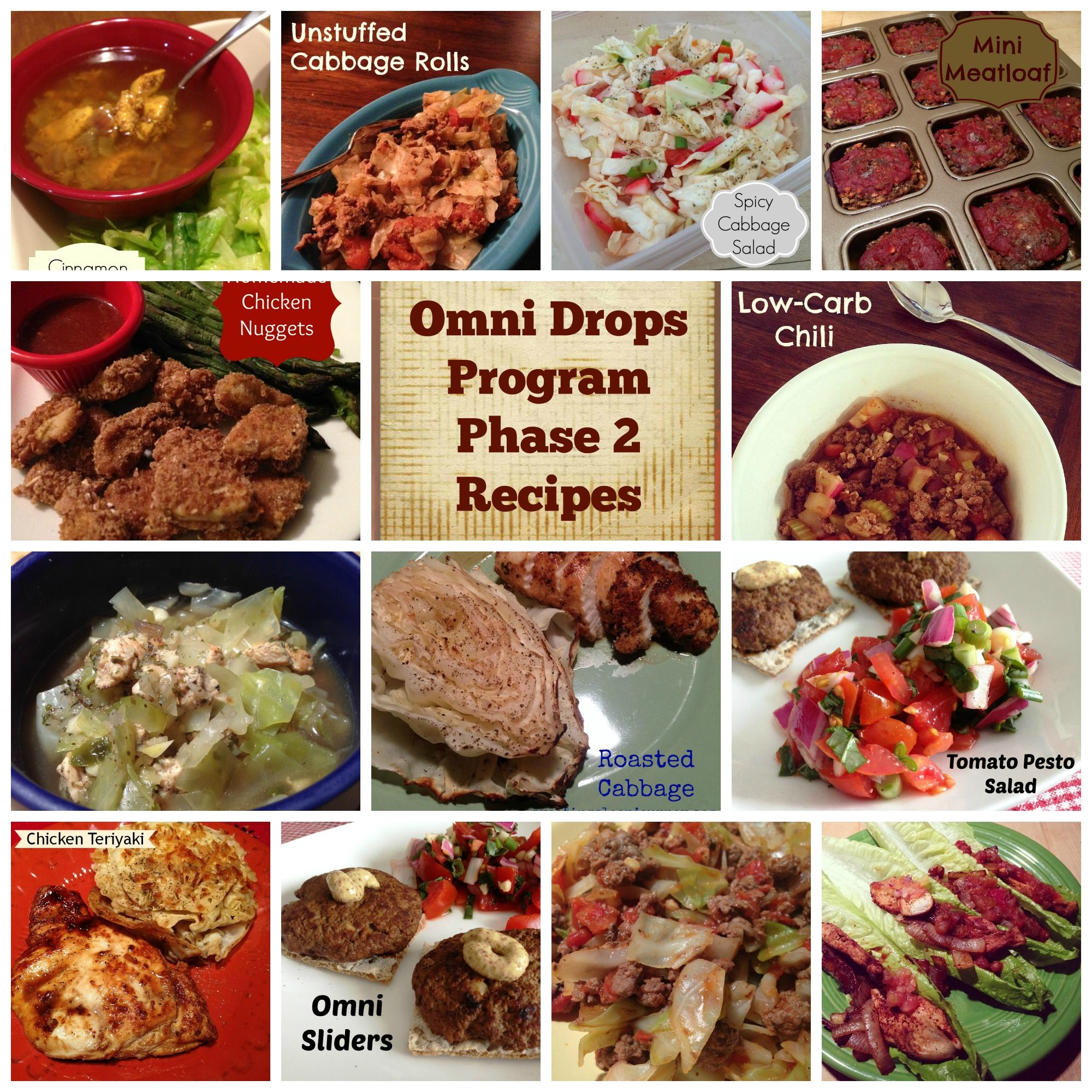 Omni Drops Program Phase 2 Recipes: My eating clean