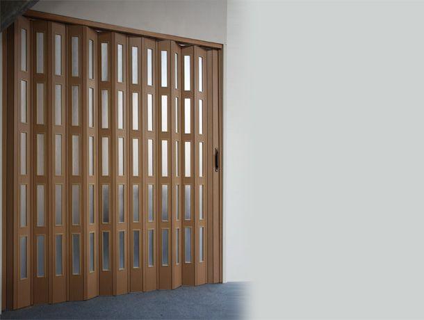 Spazio Folding Pvc Wood Veneered Concertina Folding Doors Modern Room Divider Folding Doors Sliding Room Dividers