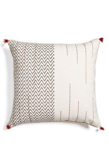 Mudhut 12x24 Black Gray Cream Rectangle Oblong Pillow NEW