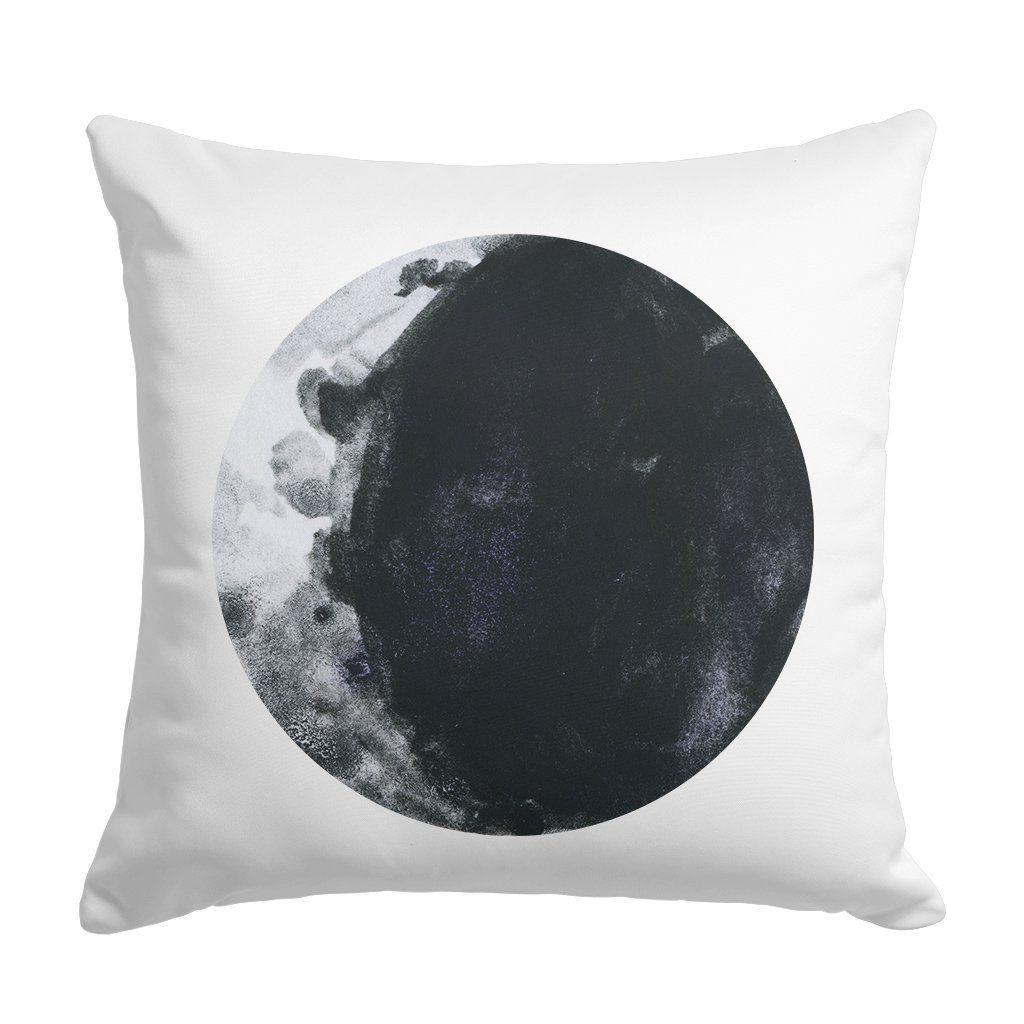Personalized Moon Kids Throw Pillow - 22 in x 22 in / white