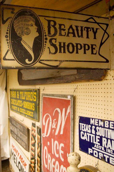 Antique Beauty Shop Sign Brimfield