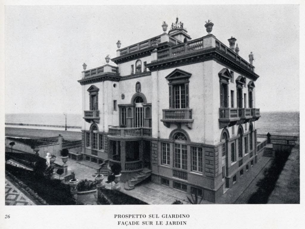 Francesco Fichera, Villa Inga a Genova 1924