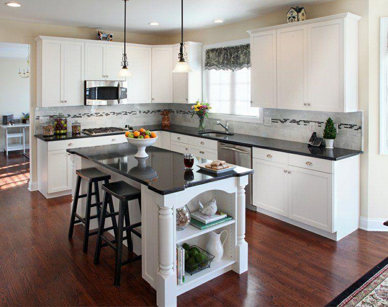 Plan de travail pour cuisine  choisir la bonne couleur - Plan De Cuisine Moderne Avec Ilot Central